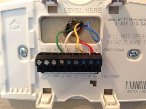 electrical installing of honeywell wi fi programmable