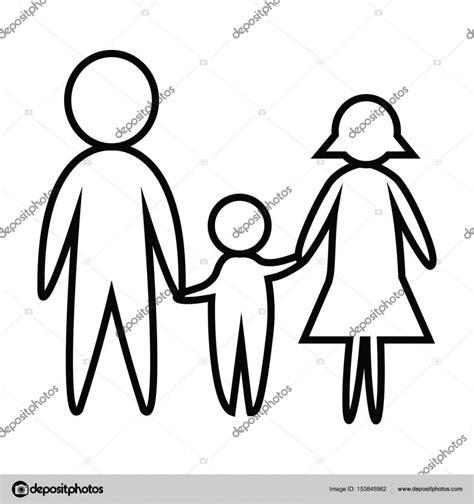 imagenes de una familia en blanco y negro feliz blanco y negro l 237 nea de familia padre madre e hijo