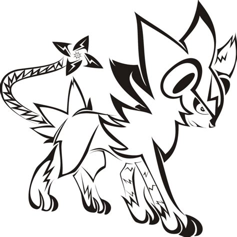 tribal designs coloring pages tribal luxray tattoo by newtoniannocturn on deviantart