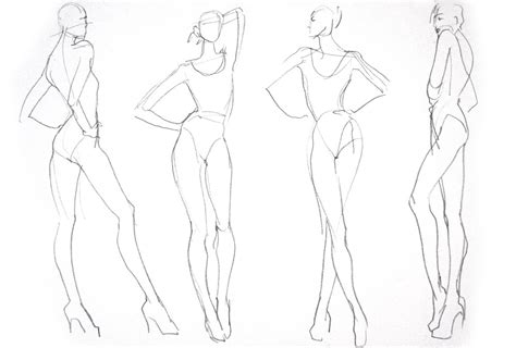 fashion illustration back pose project 365 draw the line 02 01 2012 03 01 2012