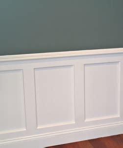 How To Make Wainscoting by Flat Panel Wainscoting Building Design Features