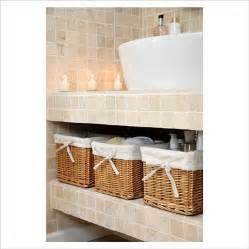 storage baskets for bathroom gap interiors detail of modern bathroom basin with