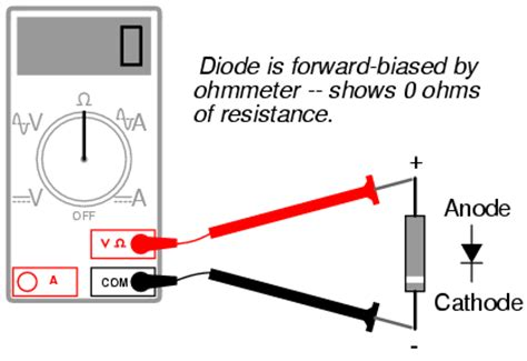 diode polarity using multimeter lessons in electric circuits volume iii semiconductors chapter 3