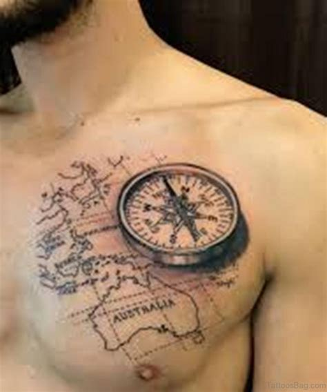 map and compass tattoo 38 stylish map tattoos on chest
