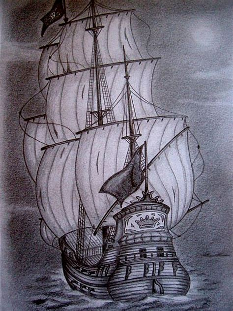 barco pirata dibujo a lapiz java pintor mis dibujos de barcos