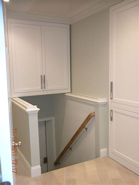 above cabinet storage this over stair storage cabinet in groton ma is built on