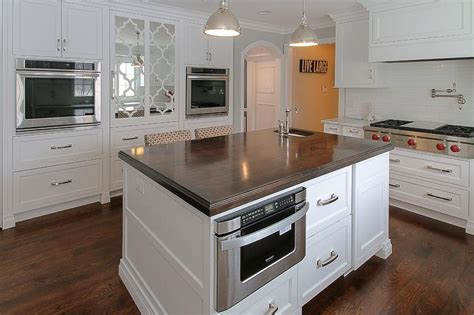 island with microwave drawer transitional kitchen