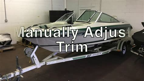 outboard boat motor trim how to manually adjust outboard boat trim troubleshooting