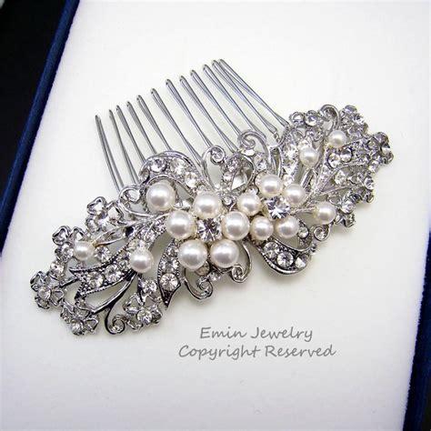 vintage style wedding hair pieces wedding hair accessories bridal hair combs pearl