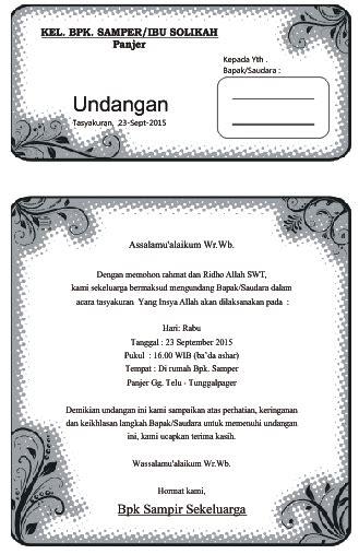 template undangan yasin undangan tahlil contoh surat undangan dalam berbagai jenis