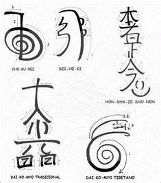draw  reiki symbols infographic reiki