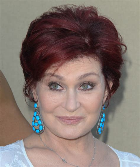 back view of sharon osbourne haircut short hairstyles on the red carpet