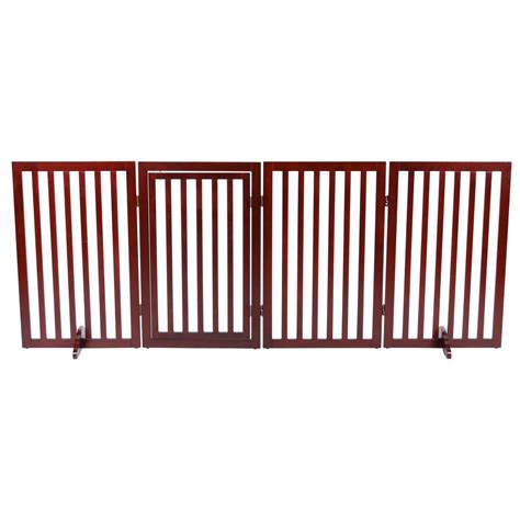 dog house with gate trixie 4 part convertible wooden dog gate 39458 the home