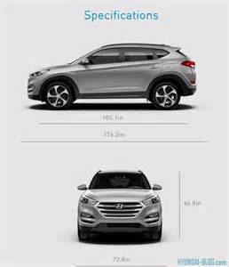 Hyundai Tucson Length 2016 Tucson Gets Bigger In Size Dimensions