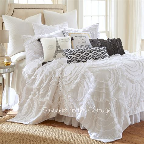 cottage comforters shabby chic quilts full queen bedding romantic homes
