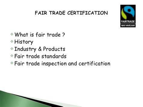 Mba Fair Trade by Eco Labels