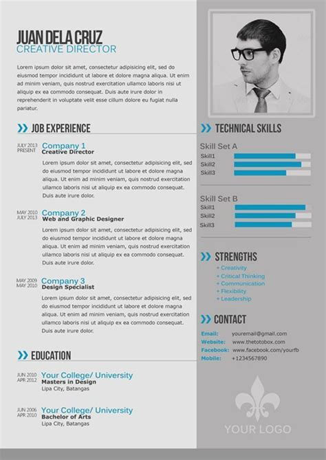 Moderner Lebenslauf by The Best Resume Templates 2015 Community Etcetera