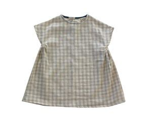 image of willa dress in grey gingham gauze littles gingham grey and dress in