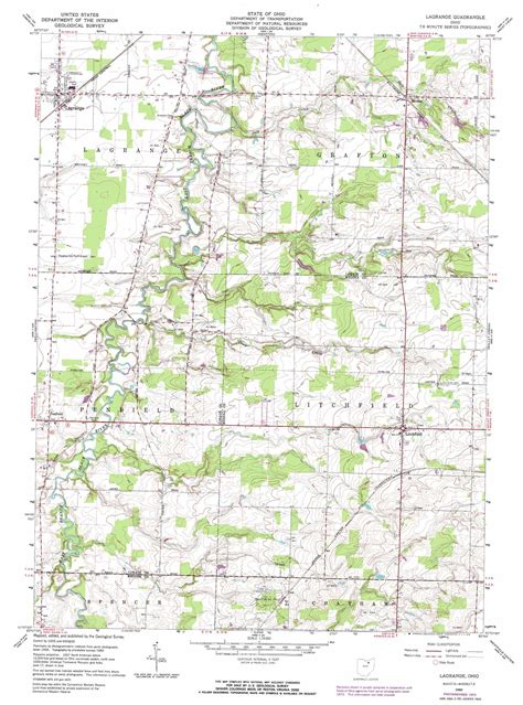 map of lagrange lagrange topographic map oh usgs topo 41082b1