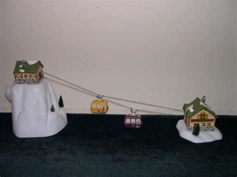 animated ski lift decoration dept 56 animated quot gondola quot ski lift resort retired ebay