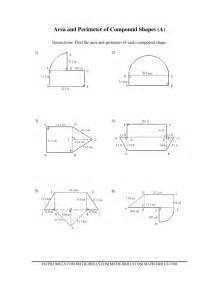 area and perimeter of compound shapes a
