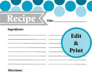 fillable recipe card template popular items for page on etsy