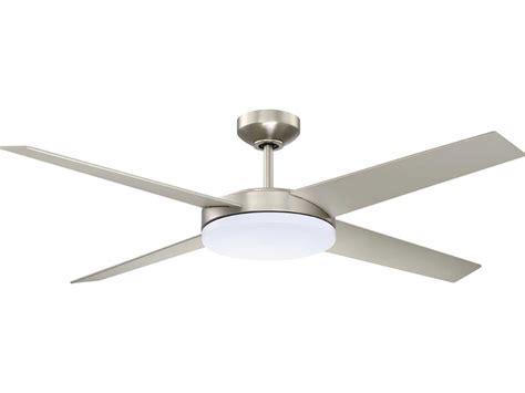 kendal lighting lopro satin nickel 52 wide ceiling fan