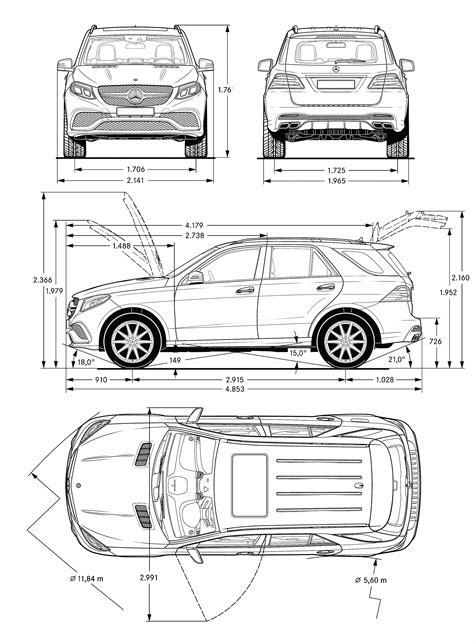 Mercedes-Benz AMG GLE 63 SUV 2015 Blueprint - Download