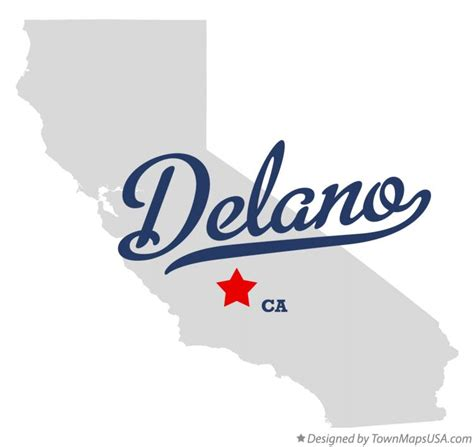 delano california map map of delano ca california