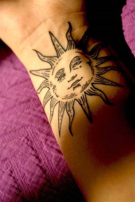 tattoo pictures sun sun and moon tattoos for men ideas and designs