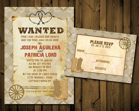 western wedding invitations templates western wedding invitation templates cloudinvitation