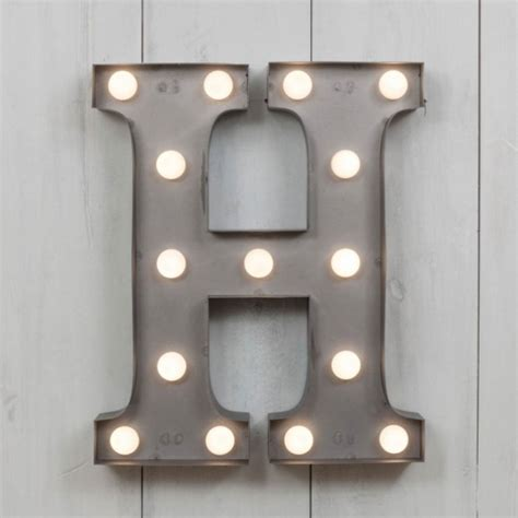 white metal light up letters h vegas metal 11 quot mini led letter lights marquee letters