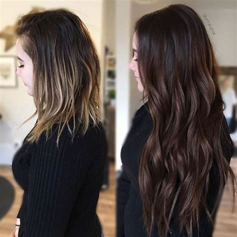 curly tape ins that last 50 best before after extensions images on pinterest