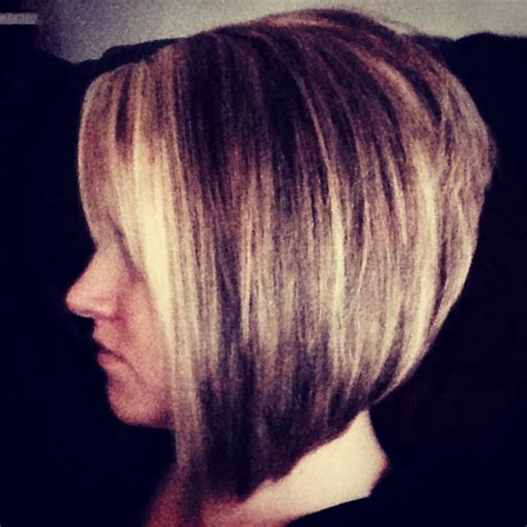 hair short in front long inback stacked angled bob long front short back i m cutting my