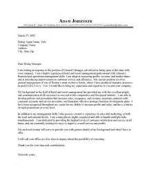 Sles General Cover Letters by General Cover Letter Templates