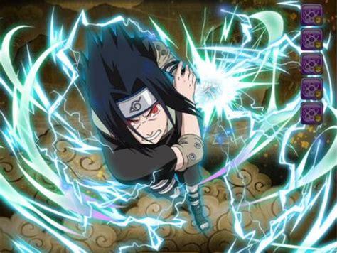 sasuke uchiha chidori mastered naruto blazing gamea