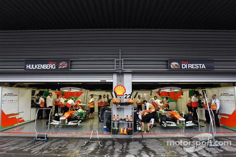Pit Garage by Pit Garage Of Nico Hulkenberg India F1 And