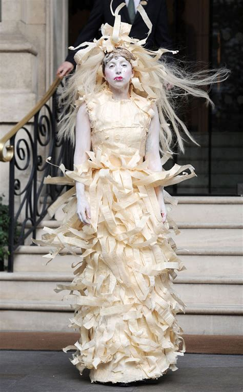 Gaga Dress gaga wears a dress made of skin gaga and headdress