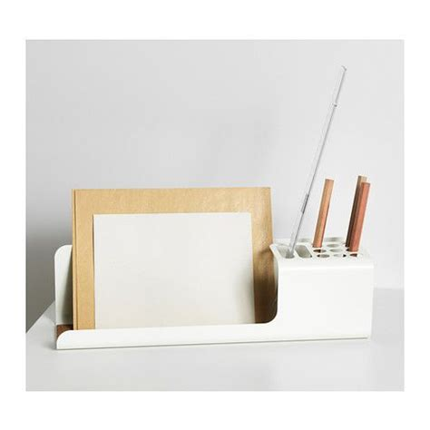Desk Organizer White by Kvissle Desk Organizer White