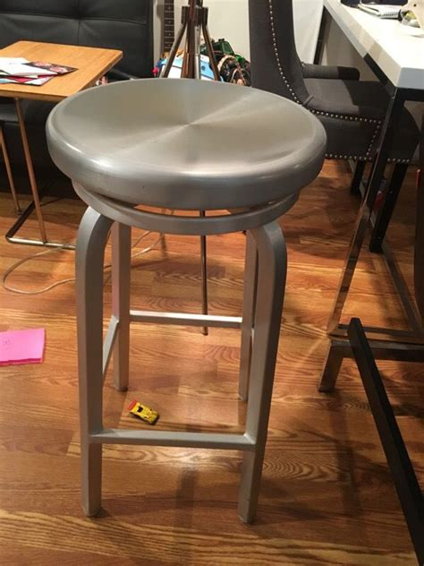 Aluminum Bar Stools Crate And Barrel by Two Crate And Barrel Aluminum Bar Stools Furniture In