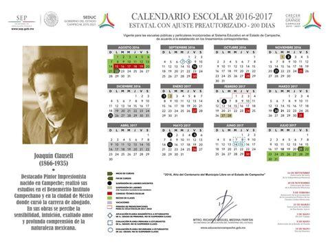 calendario escolar calendario escolar 2017 2017 de la sep 2018 calendar