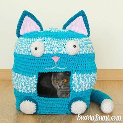 crochet pattern cat cave crochet cat cave free pattern lots of ideas the whoot
