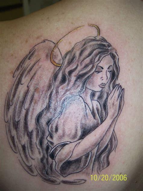 tattoo kneeling angel praying angel tattoo
