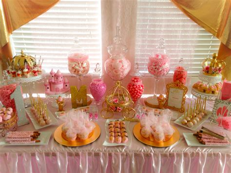 royal princess 1st birthday party candy buffet royal