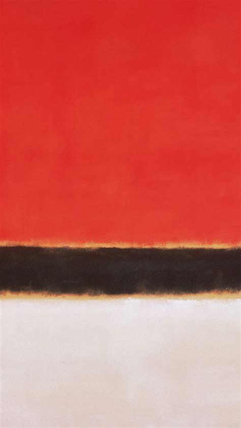 iphone 6 wallpaper classic art al68 red white rothko mark paint style art classic