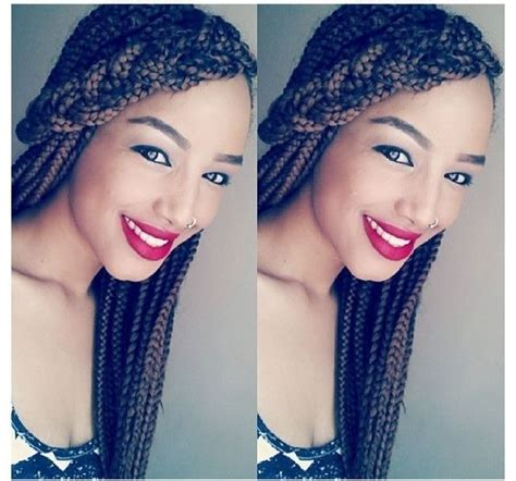 homecoming hairstyles with box braids side braid bangs box braid style hairstyles pinterest