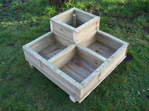 Square Corner Decking wooden garden planter wood trough