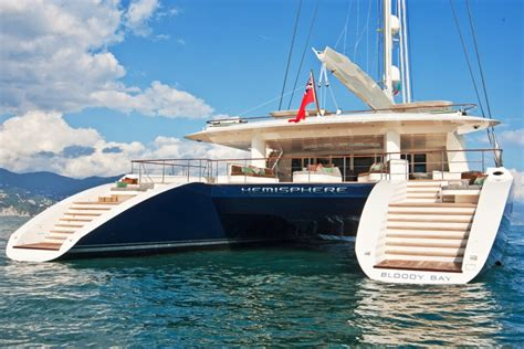 hemisphere catamaran superyacht luxury catamaran yacht hemisphere boasting exclusive linen