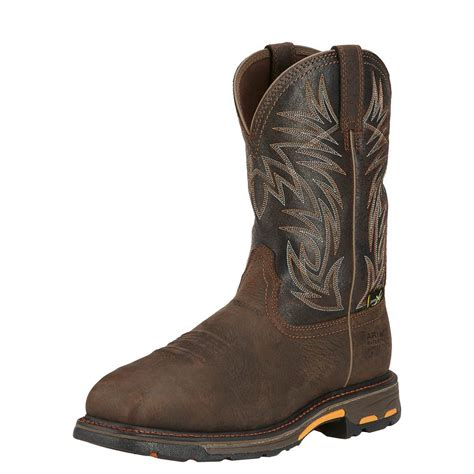 ariat work boot ariat workhog square tow h20 metguard d d outfitters