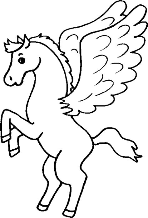 Imagenes De Unicornios Y Pegasos Para Colorear   dibujos para colorear de pegaso plantillas para colorear
